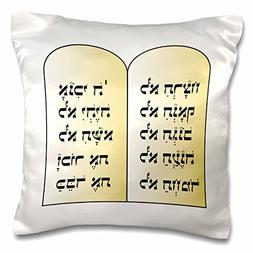 3dRose The 10 Commandments - Pillow Case, 16 by 16-inch