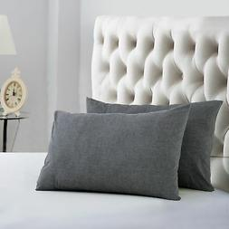 """Evolive 100% Cotton Pre-Washed Pillowcase Pair 20""""X30"""""""