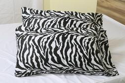 100% Cotton Zebra Print 400 Thread-Count Pillowcase, Set of