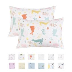 NTBAY 100% Organic Cotton Toddler Pillowcases Set of 2, Cart