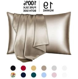 100% Pure Mulberry Silk Pillowcase 19 Momme Bed Pillow Cases