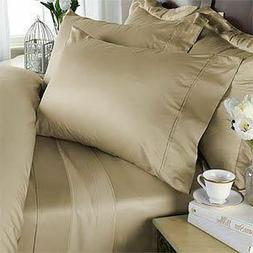 1000 TC Egyptian Cotton 8,10,12,15 Inch Deep Pocket Beige So