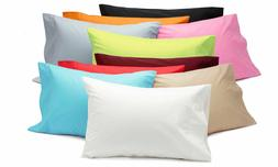 1500 QT Microf. PILLOW CASES King Standard Size 13 Colors! S