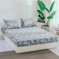 150x200cm Small fresh flowers Queen Bed <font><b>Fitted</b><