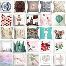 """18"""" Abstract Geometric Flower Cushion Covers Throw Pillow Ca"""