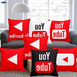 18 Inch Fashion You Tube Cushion Cover Pillowcase