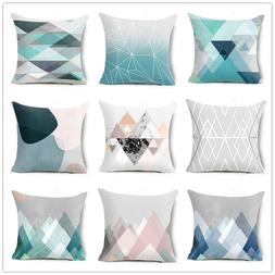 18 Inch Minimalist Style Abstract Triangle Geometry Cushion