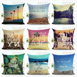 "18"" Square Cushion Cover Scenery Forest Printed Pillow Cases"