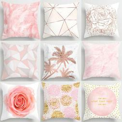18'' Nordic Pink Pillow Cases Square Throw Cushion Cover Sof