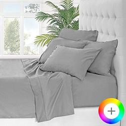 Bare Home 7 Piece 1800 Collection Deep Pocket Bed Sheet Set