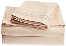 Clara Clark 4 Piece 1800 Series Premier Sheet Set, Queen, Cr