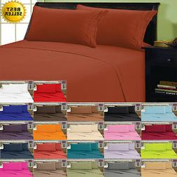 1800 Thread Count 4 Piece Bed Sheet Set All Sizes FREE SHIPP