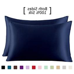 YANIBEST 19 Mome 2 Pack 100% Mulberry Silk Pillow Cases for