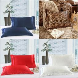 1pc Queen Size Silk~y Satin Pillow Case/Cases Good Quality