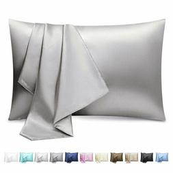 2 Pack Silk Satin Pillowcase Silky Pillow Cases For Hair And