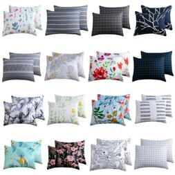 2 Pcs Home Decor Standard Pillow Cases Sets Bed Room Throw P