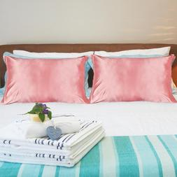 2 Pcs/set Duerer Two-Pack Silky Satin Pillowcases for Hair a