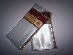 "2 Pillowcases Silky Satin Cases-WHITE-Standard Set-20""x30""-N"