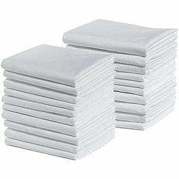 20 Standard Size 100% Cotton White T220 Percale Pillowcases