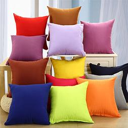 2017 candy solid throw pillow