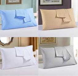 2pc zipper solid pillow cases all size