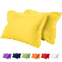 1800 Pillow Shams Standard Queen King Ultra Soft Pillowcase