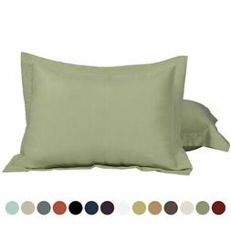 2Pcs Standard/Queen/King Microfiber Pillow Shams Pair Oxford