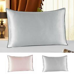 2x Pure Mulberry Silk Pillow Case Pillowcase Cover Standard