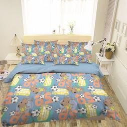 3D Dog And Soccer 521 Bed Pillowcases Quilt Duvet Cover Set