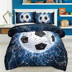 3D Ice Water Soccer Bedding Set Duvet Cover Set And Pillow C