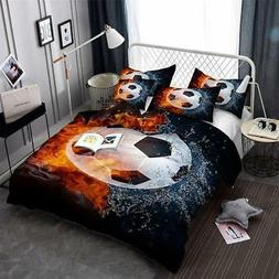 3D Soccer Bedding Sets Duvet Covers and Pillow Cases