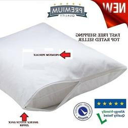4 pack new t-180 standard zippered pillow protector cover 20
