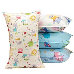 Biubee 4 packs  Toddler Pillowcases - Fits Pillows Sized 12x