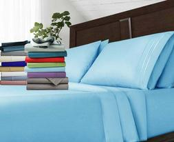 Luxury Egyptian Comfort 1800 Count 4 Piece Bed Sheet Set Dee