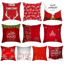 45x45cm Christmas Red <font><b>Pillow</b></font> Cover Soft