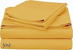 """500 Thread Count 31"""" Deep Pocket Egyptian Cotton 6-PCs Bed S"""