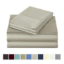 500 Thread Count 100% Long Staple Cotton Bed Sheet Set with