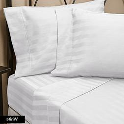 500 Thread Count Wrinkle Soft, Hotel Room  Striped 3-Piece F