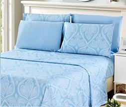 4 Piece: Paisley Printed Bed Sheet Set 1800 Count Egyptian Q