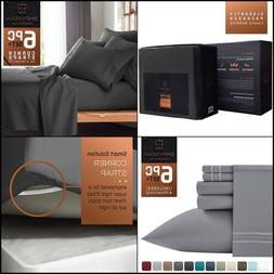 6 Pcs Bed Sheet Linen Set Queen Size Hotel Collection Microf
