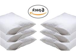 6pc DELUXE ZIPPERED VINYL PILLOW COVER PROTECTOR BED BUG DUS