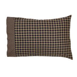 COUNTRY PRIMITIVE FARMHOUSE PLAID STANDARD PILLOW CASES SET/