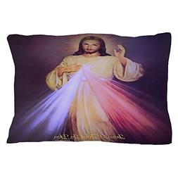 "CafePress Divine Mercy Gold Standard Size Pillow Case, 20""x3"