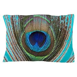 CafePress - Peacock Turqouise - Standard Size Pillow Case, 2