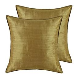 Pack of 2, CaliTime Silky Throw Pillow Covers Cases for Couc