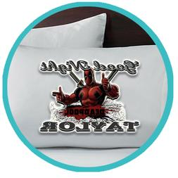 Deadpool Merch Pillowcase Pillow Case Sheets Bedroom Bed Dec