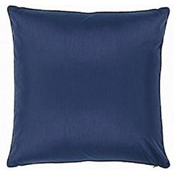 "DreamHome Polyester Faux Silk Pillow Case - Blue 25""x25"""