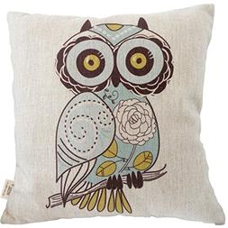 HOSL Square Decorative Throw Pillow Case Cushion Cover Carto