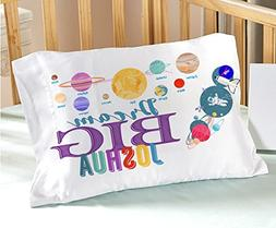 Personalized Space Solar System  Dream Big Pillow Case - Chr