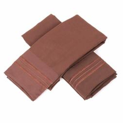 Pillowcase Pair Sweet Home Collection 1500 Series Chocolate/